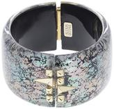 Alexis Bittar Abalone Patterned Lucite Cuff Bracelet