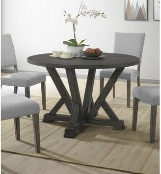Gracie Oaks Batey Solid Wood Dining Table Gracie Oaks