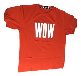 MSGM Red Cotton T-shirts
