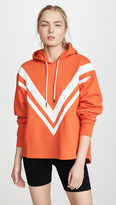 Tory Sport French Terry Oversized Chevron Hoodie