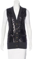 Tory Burch Wool Embellished Vest