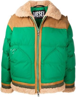 Diesel Shearling Padded Jacket