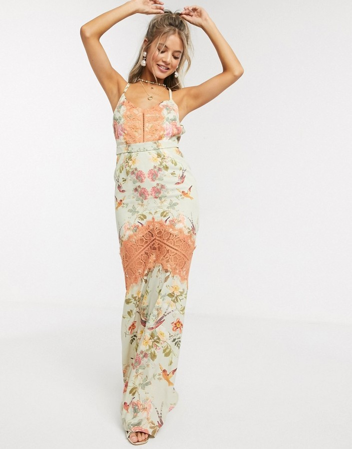 Thumbnail for your product : Hope & Ivy maxi cami dress with open back in floral