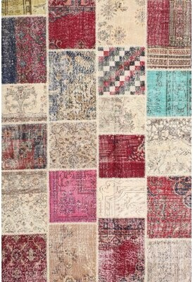 Bungalow Rose Dathan Patchwork Gray/Beige/Red Area Rug Rug Size: Rectangle 7' x 9'