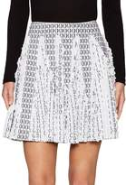Alaia Women's Intarsia Lace Trim A Line Skirt
