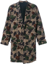 Yohji Yamamoto camouflage coat - men - Nylon/Polyester/Wool - 3