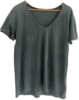 James Perse Green Cotton Top for Women