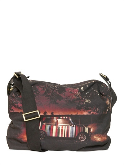 Paul Smith Mini Print Canvas Pc Holder Bag