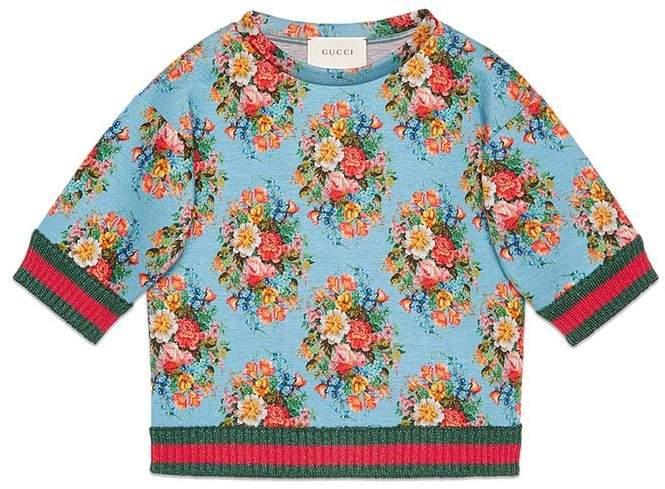 Gucci Kids floral print sweatshirt
