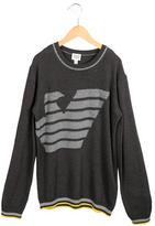Armani Junior Boys' Logo-Patterned Crew Neck Sweater w/ Tags