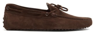 Tod's Gommino Suede Driving Loafers - Mens - Brown