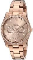 Fossil Women's 'Scarlette' Quartz Stainless Steel Casual Watch