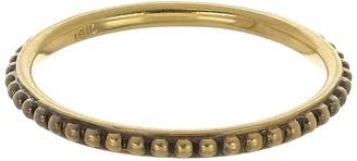 Sylva & Cie Oxidized Caviar Band Ring