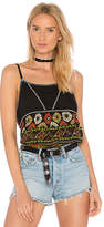 Band of Gypsies Cabo Babydoll Top in Black. - size L (also in M,S,XS)