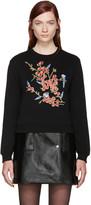 Carven Black Embroidered Sweatshirt