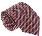 Missoni U5089 Fuschia/brown Basketweave 100% Silk Tie.