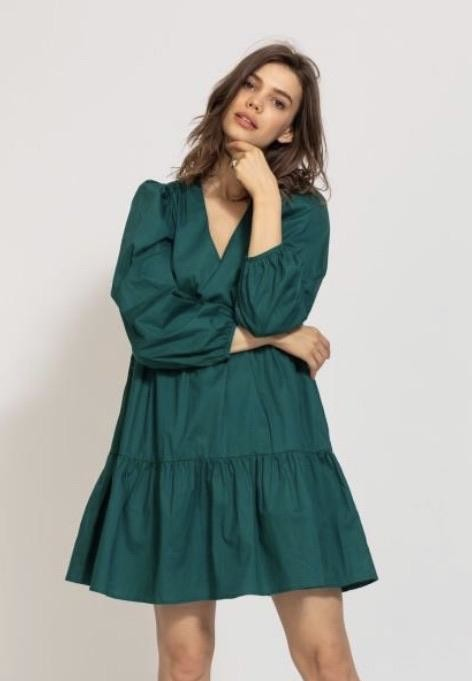 Thumbnail for your product : Margaux Elodie Green Cotton Dress - 1
