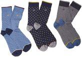 White Stuff Classic Patterns Socks 3 Pack