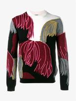 Kenzo Wool Cotton-blend Embroidered Jumper