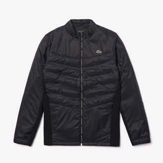 Lacoste Men's SPORT Quilted Mixed-Material Zip Tennis Jacket