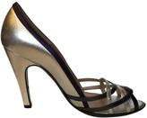 Salvatore Ferragamo Silver Leather Heels