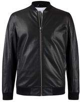 Burton Burton Black Perforated Pu Bomber Jacket