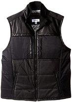 Calvin Klein Men's Faux Leather Padding Vest