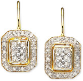 Square Diamond Earrings in 14k Gold (1/4 ct. t.w.)