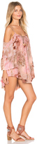 Ale By Alessandra Mother Earth Ruffled Cold Shoulder Dress