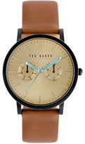 Ted Baker Mens Smart Casual Black and Leather Strap Watch