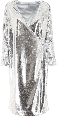 Ganni Sequins Wrap Dress
