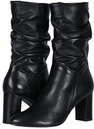 David Tate Velvet (Black Lamb Skin) Women's Boots