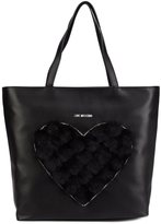 Love Moschino faux fur heart tote