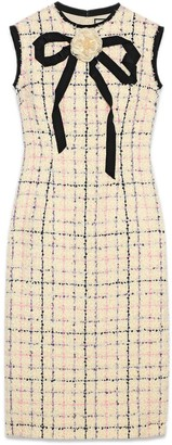 Gucci Tweed sheath dress with bow