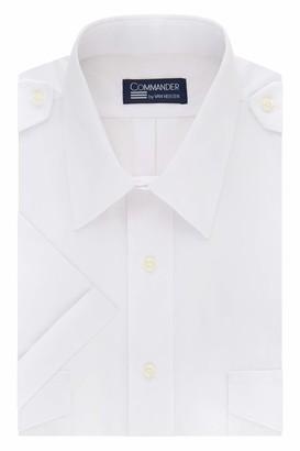 Van Heusen Men's Dress Short Sleeve Pilot Shirt
