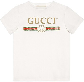 Gucci Kids Children's cotton T-shirt with Gucci logo