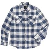RVCA Boy's Lowland Plaid Flannel Shirt