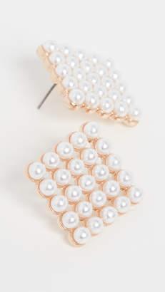 Stella + Ruby Square Stud Earrings