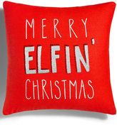 Holiday Lane Red Merry Elfin' Christmas Decorative Pillow, Created for Macy's