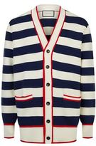 Gucci Striped Embroidered Cardigan