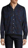 Timo Weiland Men's Ethan Mid Century Silk Sportshirt