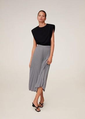 MANGO Houndstooth pleated skirt