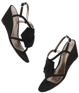 LOFT Francis Flower Wedge Sandals