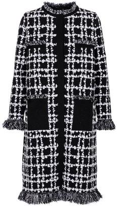 Oscar de la Renta Checked boucle tweed coat
