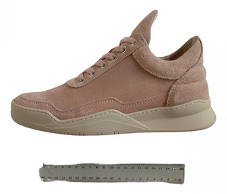 Filling Pieces Pink Suede Trainers