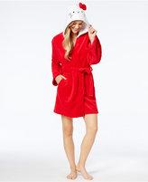 Hello Kitty Bow City Hooded Wrap Robe