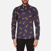 Ps By Paul Smith Printed Long Sleeve Shirt Navy