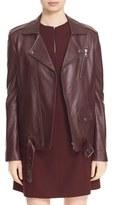 Theory Women's 'Tralsmin Wilmore' Lambskin Leather Moto Jacket