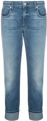 Rag & Bone High-Rise Turn-Up Hem Jeans