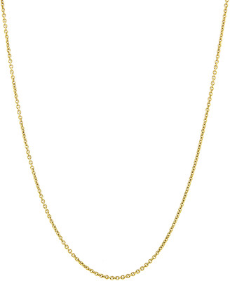 Dru Baby Rolo Chain Necklace - Yellow Gold